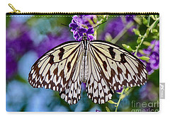 Black And White Paper Kite Butterfly Carry-all Pouch