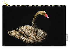 Black Swan On Black  Carry-all Pouch