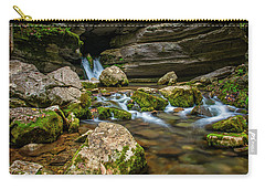 Carry-all Pouch featuring the photograph Blanchard Springs Headwater by Andy Crawford