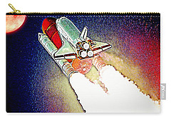 Carry-all Pouch featuring the digital art Blast Off To Mars by Pennie McCracken
