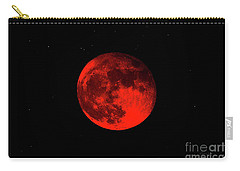 Blood Red Wolf Supermoon Eclipse 873a Carry-all Pouch