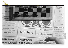Blot Here, Aka Black's Move, 1972 Carry-all Pouch