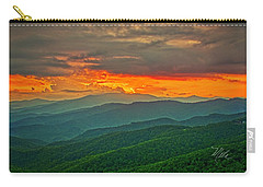 Carry-all Pouch featuring the photograph Blowing Rock Sunset by Meta Gatschenberger