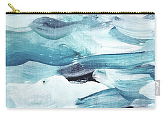 Carry-all Pouch featuring the painting Blue #13 by Maria Langgle