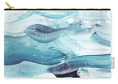 Carry-all Pouch featuring the painting Blue #14 by Maria Langgle