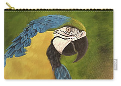 Blue And Gold Mccaw Carry-all Pouch