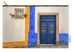 Blue Door Of Medieval Portugal Carry-all Pouch