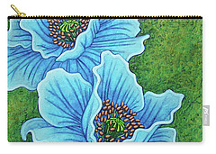 Carry-all Pouch featuring the painting Blue Duo by Amy E Fraser