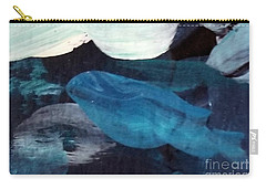 Carry-all Pouch featuring the painting Blue Fish by Maria Langgle