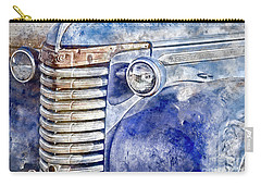 Carry-all Pouch featuring the photograph Blue Gmc Truck by Brad Allen Fine Art