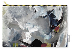 Carry-all Pouch featuring the painting Blue Grey by John Jr Gholson
