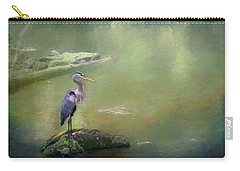 Blue Heron Isolated Carry-all Pouch