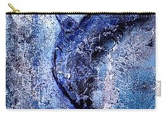 Carry-all Pouch featuring the painting Blue Hummingbird by 'REA' Gallery