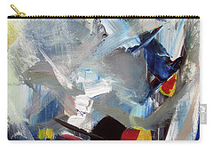 Carry-all Pouch featuring the painting Blue by John Jr Gholson