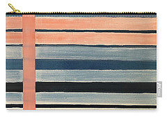 Blue Peachy Stripes Carry-all Pouch