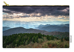 Blue Ridge Mountains Asheville Nc Scenic Light Rays Landscape Photography Carry-all Pouch