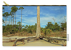 Blue Skies And Broken Branches Carry-all Pouch
