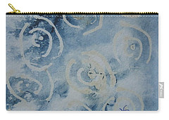 Blue Spirals Carry-all Pouch