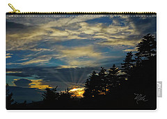 Carry-all Pouch featuring the photograph Blue Sunset by Meta Gatschenberger
