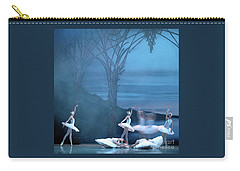 Carry-all Pouch featuring the photograph Blue Swans by PJ Boylan