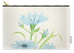 Blue Wildflowers Watercolor Carry-all Pouch