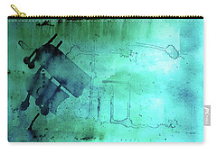 Carry-all Pouch featuring the painting Blues And Twos by Valerie Anne Kelly