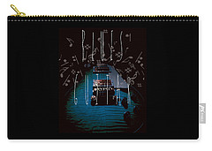 Blues Guitar Music Notes Carry-all Pouch