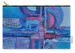 Blues With Purple Abstract Carry-all Pouch