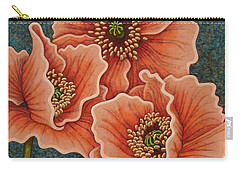 Carry-all Pouch featuring the painting Blushing Gossips by Amy E Fraser