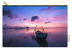 Boat Under The Sunset Carry-all Pouch