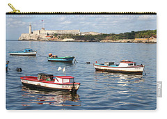 Carry-all Pouch featuring the photograph Boats In The Harbor Havana Cuba 112605 by Rick Veldman