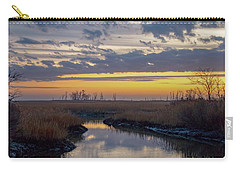 Carry-all Pouch featuring the photograph Bombay Hook Dawn's Early Light by Kristia Adams