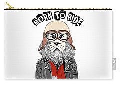 Born To Ride - Baby Room Nursery Art Poster Print Carry-all Pouch