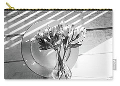 Bouquet And Plate-bw Carry-all Pouch