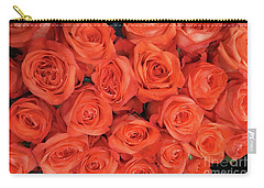 Bouquet Of The  Living Coral Roses Carry-all Pouch