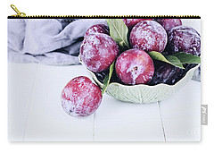 Bowl Of Fresh Plums Carry-all Pouch