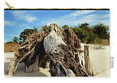 Branch On Beach Carry-all Pouch