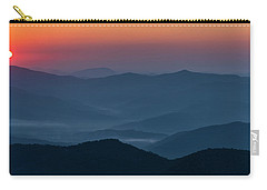 Carry-all Pouch featuring the photograph Brasstop Bald Sunrise Panorama by Andy Crawford