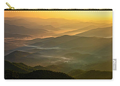 Carry-all Pouch featuring the photograph Brasstown Bald Mists by Andy Crawford