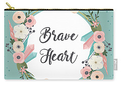 Brave Heart - Boho Chic Ethnic Nursery Art Poster Print Carry-all Pouch