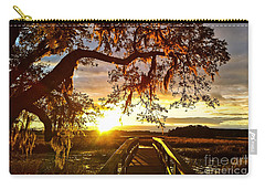 Carry-all Pouch featuring the photograph Breaking Sunset by Robert Knight
