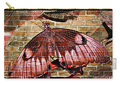 Carry-all Pouch featuring the mixed media Brick In The Wall by Sabine ShintaraRose
