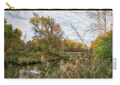 Carry-all Pouch featuring the photograph Bridge Over Ellicott Creek by Guy Whiteley