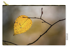 Carry-all Pouch featuring the photograph Bright Fall Leaf 10 by Michael Arend
