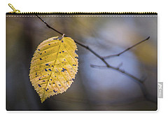 Carry-all Pouch featuring the photograph Bright Fall Leaf 3 by Michael Arend