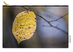 Carry-all Pouch featuring the photograph Bright Fall Leaf 5 by Michael Arend