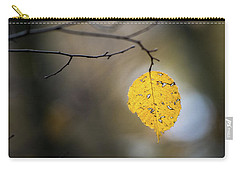 Carry-all Pouch featuring the photograph Bright Fall Leaf 6 by Michael Arend