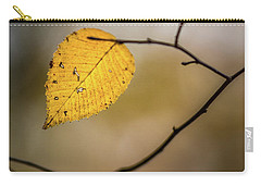 Carry-all Pouch featuring the photograph Bright Fall Leaf 8 by Michael Arend