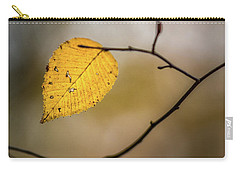 Carry-all Pouch featuring the photograph Bright Fall Leaf 9 by Michael Arend