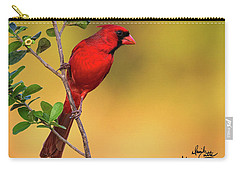 Bright Red Cardinal Carry-all Pouch
